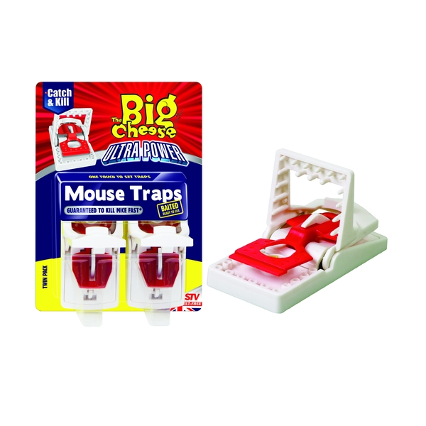 The Big Cheese Ultra Power Mouse Traps - Twin Pack