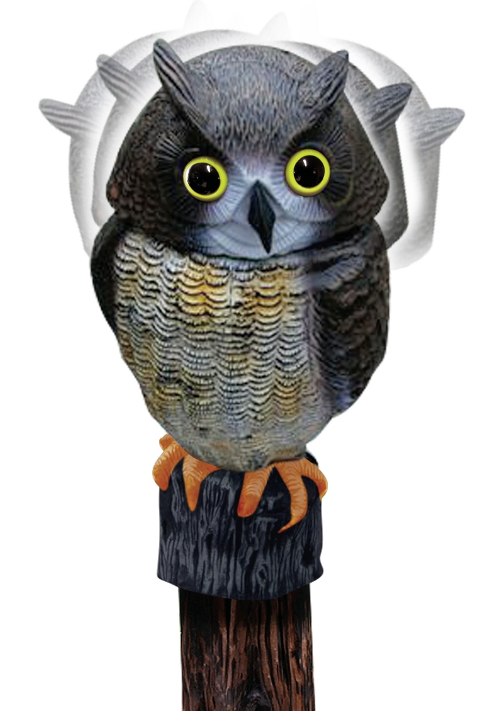 Wind Action Owl Decoy Pigeon Scarer 163 14 79
