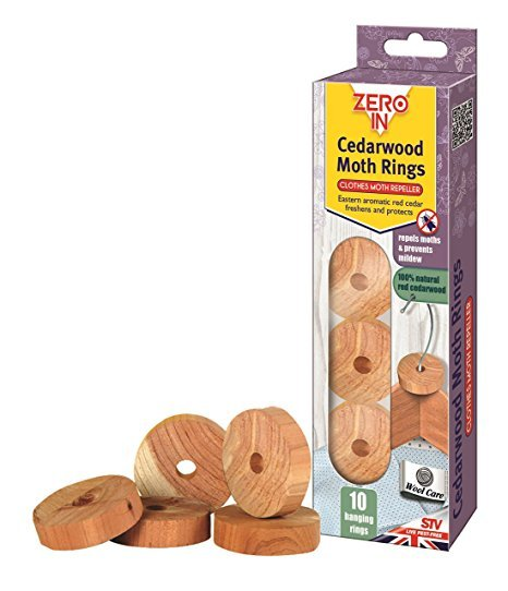 Cedarwood Clothes Moth Repeller - 10 Rings