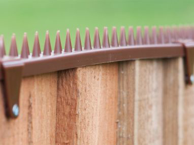 Featherboard Fence Spikes with 2 Clamps - Brown
