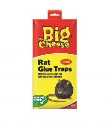 2 Pack Of The Big Cheese Rat and Mouse Glue Traps