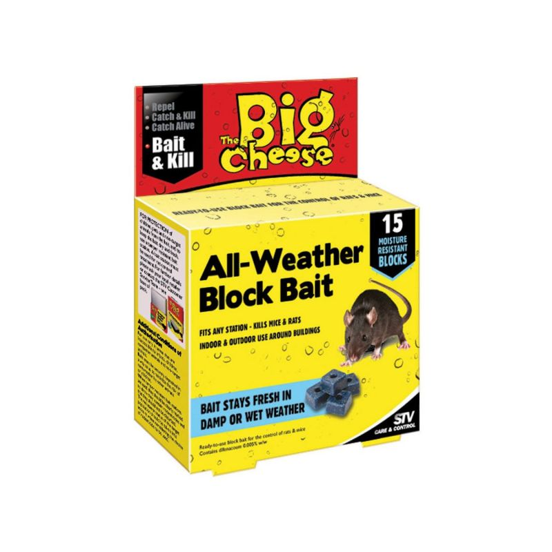 The Big Cheese All Weather Rodent Bait Blocks (Pack of 15)