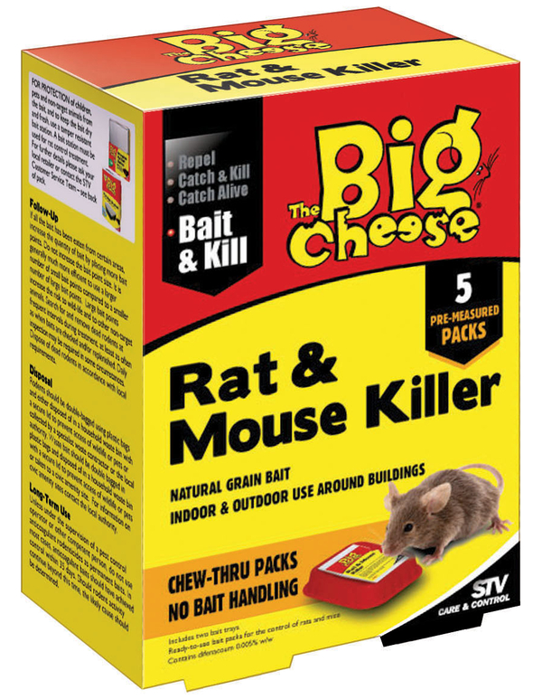 The Big Cheese Rat and Mouse Killer Bait Pack 200g - 5 x 40g