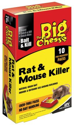 The Big Cheese Rat and Mouse Killer Bait Pack 400g - 10 x 40g