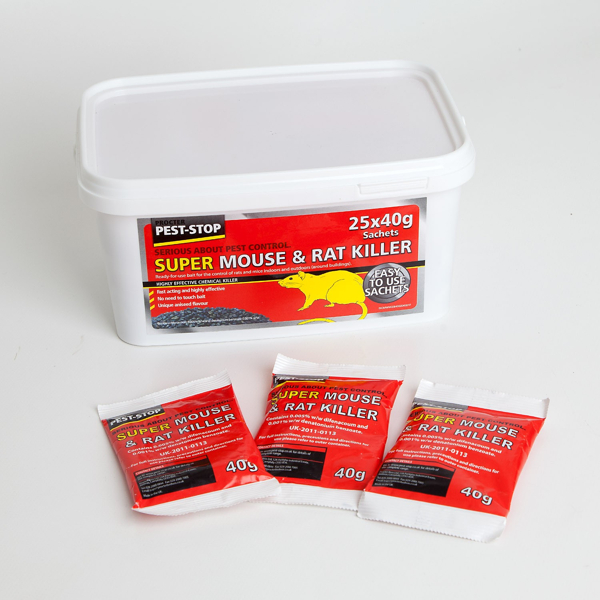 Procter Pest-Stop Super Mouse and Rat Killer - (25x 40g Sachets)