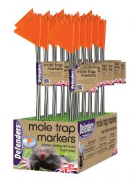 Hi-vis Mole Trap Markers - 5 Pack by Defenders™