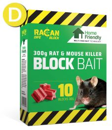 Rat & Mouse Home Friendly Bait Blocks 10 x 30g - Racan Dife