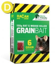 Rat & Mouse Home Friendly Grain - 6 x 25g - Racan Dife