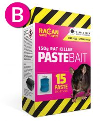 Rat Killer Paste Sachets 15 x 10g - Compatable with Racan Force Rat Killer Station - Racan Force