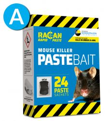 Paste Sachets 24 x 10g  - Compatible with Tamperproof Mouse Killer Station - Racan Rapid