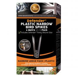 Defender® Plastic Narrow Bird Spikes 6 Metre Pack