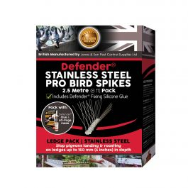 Defender® Stainless Steel Pro Bird Spikes 2.5 Metre Pack