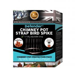 Defender® Chimney Pot Strap Bird Spike Pack