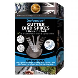Defender® Gutter Bird Spikes 3 Metre Pack
