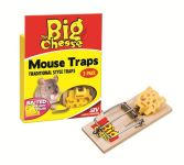 The Big Cheese Baited Traditional Mouse Trap - Twin Pack