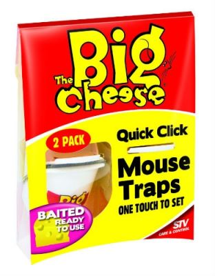 The Big Cheese Pre-Baited Mouse Traps - pk 2