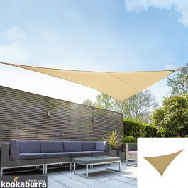 Kookaburra® 6m Right Angle Triangle Sand Breathable Party Shade Sail (Knitted 185g)