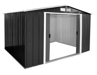 10ft x 10ft Sapphire Metal Shed in Anthracite