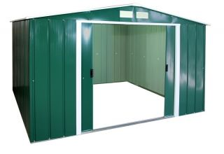 10ft x 10ft Sapphire Metal Shed in Green