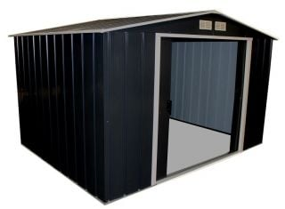 10ft x 8ft Sapphire Metal Shed in Anthracite