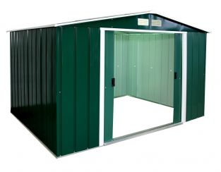 10ft x 8ft Sapphire Metal Shed in Green