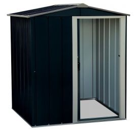 5ft x 4ft Sapphire Metal Shed in Anthracite
