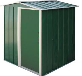 5ft x 4ft Sapphire Metal Shed in Green