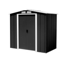 6ft x 4ft Sapphire Metal Shed in Anthracite