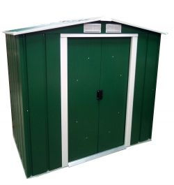 6ft x 4ft Sapphire Metal Shed in Green