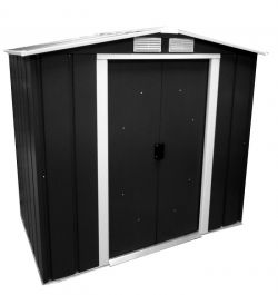 6ft x 6ft Sapphire Metal Shed in Anthracite