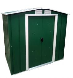 6ft x 6ft Sapphire Metal Shed in Green