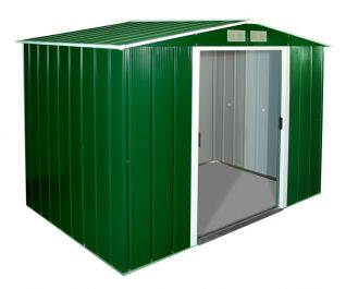 8ft x 6ft Sapphire Metal Shed in Green