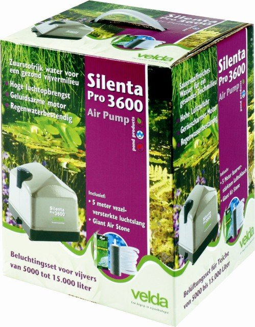 Silenta Pro 3600 Air Pump Pond Oxygenator - Mains Powered