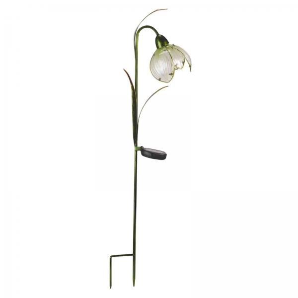 Pack of 2 Solar Snowdrop Glass Stake Lights by Smart Garden