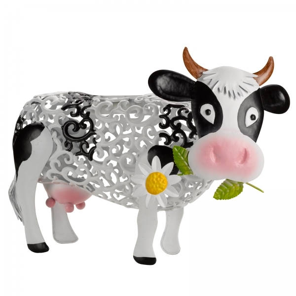 Solar LED Decorative Daisy Cow Silhouette by Smart Garden