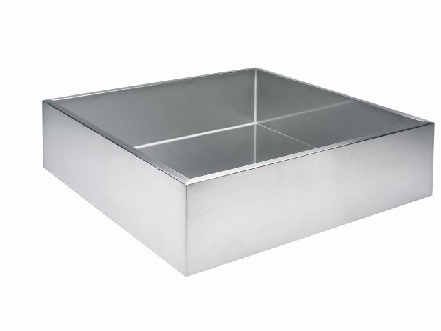 98L Square Brushed Stainless Steel Reservoir - For Water Features