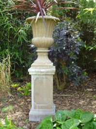 Stathern Urn Planter In Stone Colour H71cm X D54cm