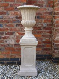 Stathern Urn Planter In Stone Colour H66cm X D47cm