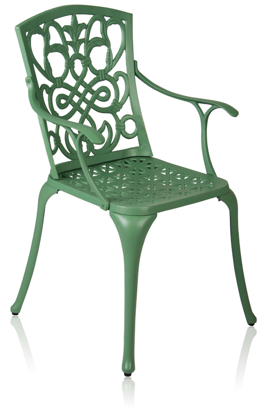 Alium™ 'Cleveland' Set of 2 Forest Green Cast Aluminium Garden Chairs