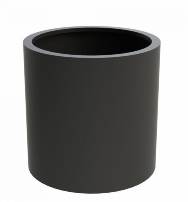 80x60cm Sydney Powdered Aluminium Cylinder Planter In Black