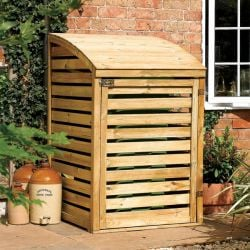 Single Wooden Wheelie Bin Store - W80cm x H128cm