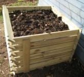 Easy-Load Wooden Compost Bin - Extra Large - 897 Litres - by Lacewing�