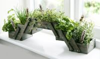 Shabby Chic Foldable Herb Planter Kit with Seeds - Grow your own herb window sill planter