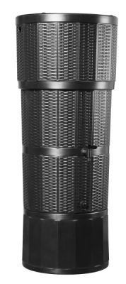 150L Water Butt Rattan - Black