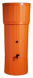150L Water Butt Rattan - Orange