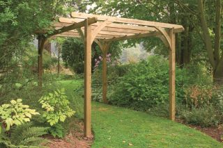 Large Wooden Garden Pergola Kit 2.7 x 2.7m