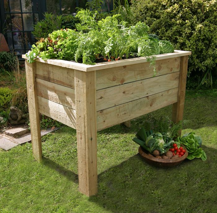 1m (3ft 3in) Deep Root Wooden] Raised Flower Bed Planter FSC® by Zest 4 Leisure®