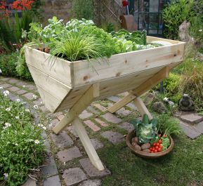 Zest 4 Leisure 1m (3ft 3in) Wooden Raised Veg Bed