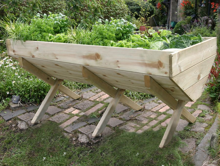2m (6ft 7in) Wooden Raised Veg Bed FSC® by Zest 4 Leisure®