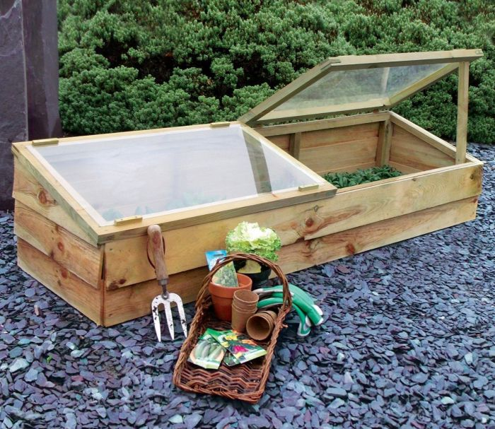 Zest 4 Leisure 1.7m (5ft 7in) Large Wooden Cold Frame
